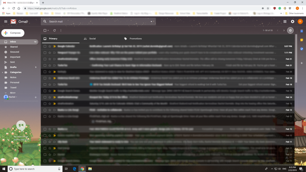 A screenshot of Gmail on a desktop browser.